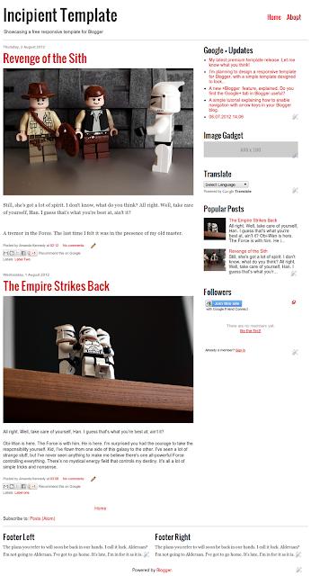 Incipient template blogger
