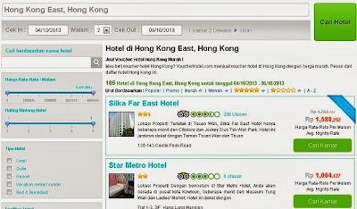Contoh Daftar Hotel di Hong Kong