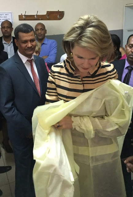 Queen Mathilde Visiting UNICEF Projects In Ethiopia