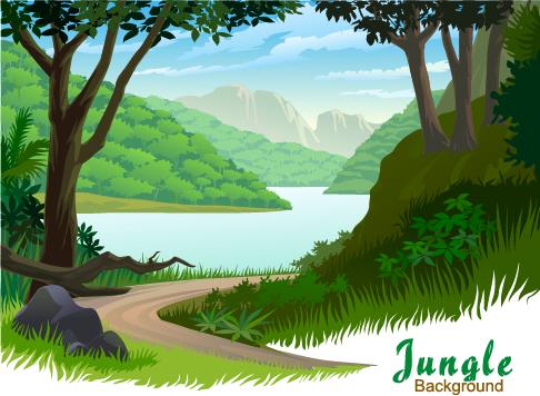 Jungla - ilustraciones vectoriales - 1