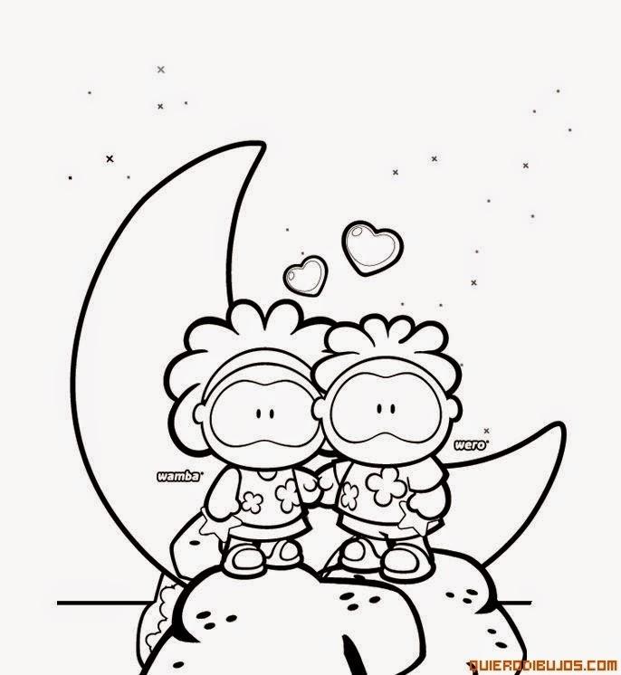 Lindas imagenes de dibujos de amor para pintar y colorear
