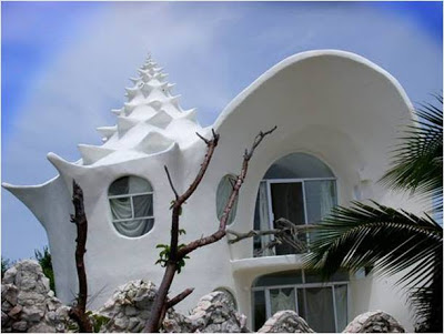 Conch Shell House - Isla Mujeres - México . lugares sorprendentes. los edificios mas extraños del mundo. Mexico. Isla Mujeres
