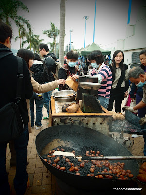 thehomefoodcook - four days of hong kong - roast chestnut stall