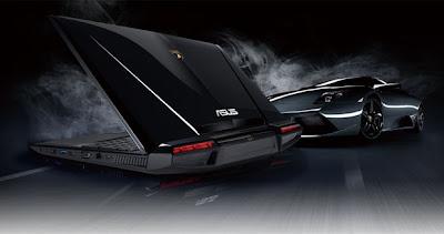 Asus Automobili Lamborghini VX7 tem linhas inspiradas no Lamborghini Murcielago (Foto: Reprodução/Asus)