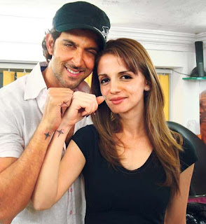 Hrithik Roshan Susanne Roshan Tattoo - Celebrity Tattoo Ideas
