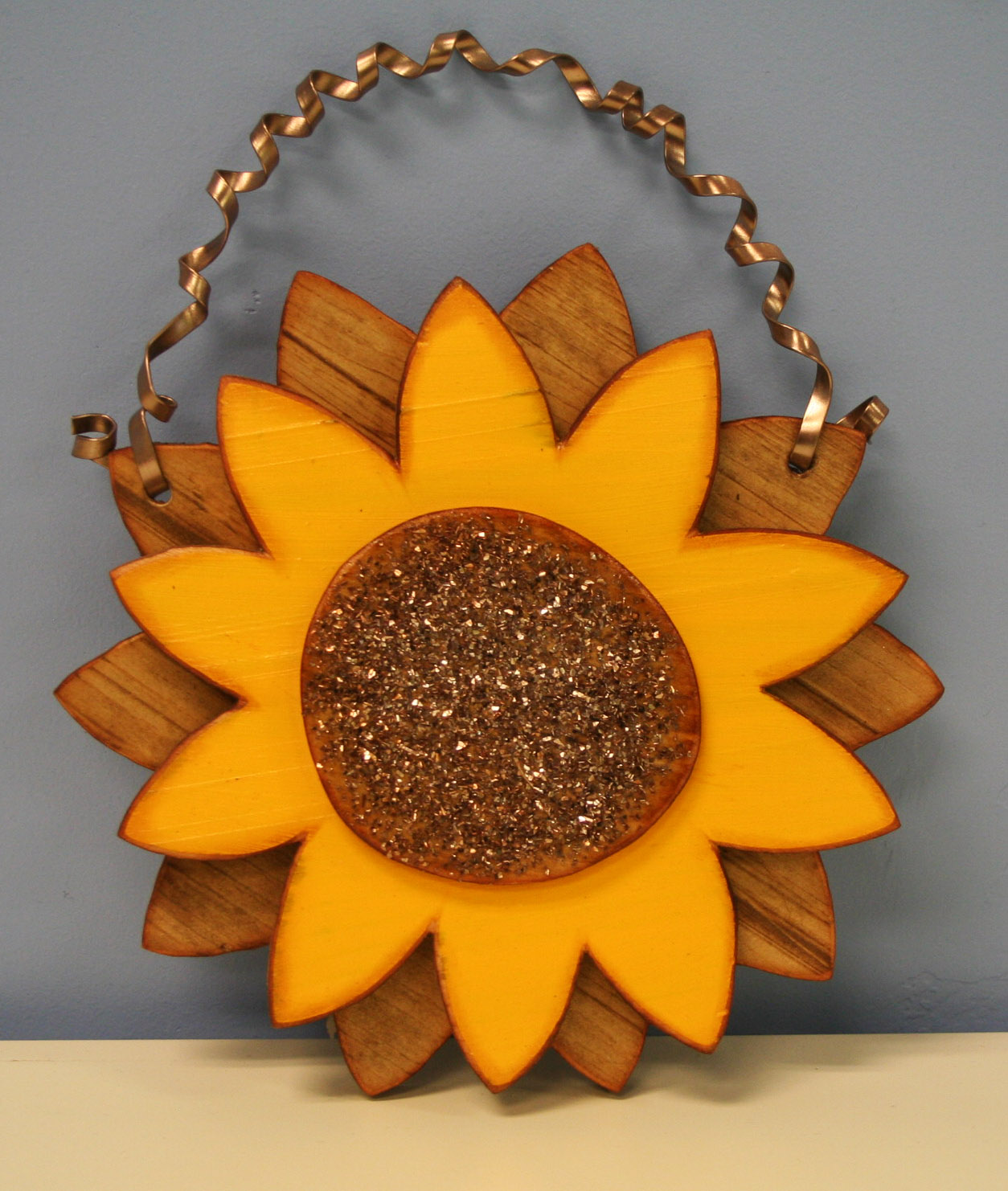 Oh my crafts blog sunflower wood shape for Easy crafts for beginners