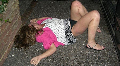 Passed Out Drunk White Girl