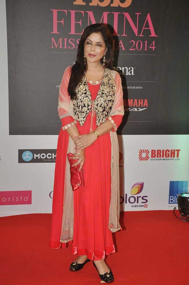Zeenat Aman at fbb Femina Miss India 2014