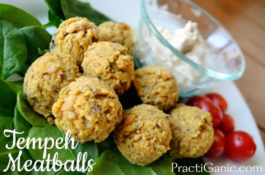 Tempeh Meatballs with Creamy Cashew Dip