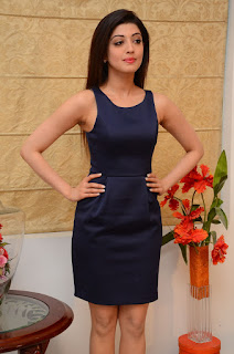 Actress Pranitha Latest Pictures in Short Dress at Dynamite Interview   (33).JPG