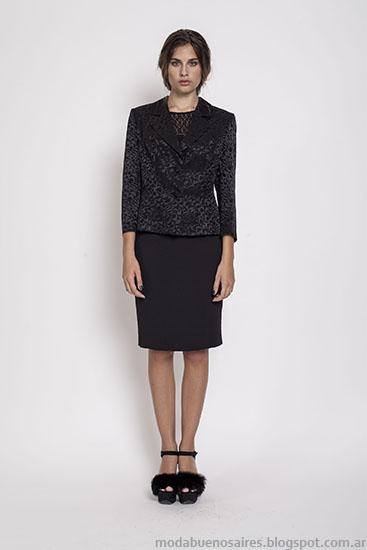 Moda invierno 2015 ropa de mujer Janet Wise.