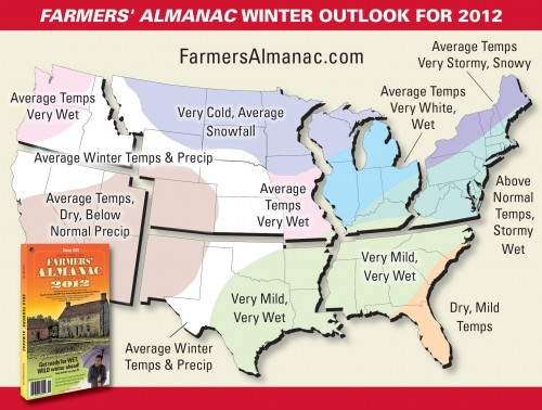 The weather guy 2011 2012 winter weather outlook for Winter 2018 predictions farmers almanac