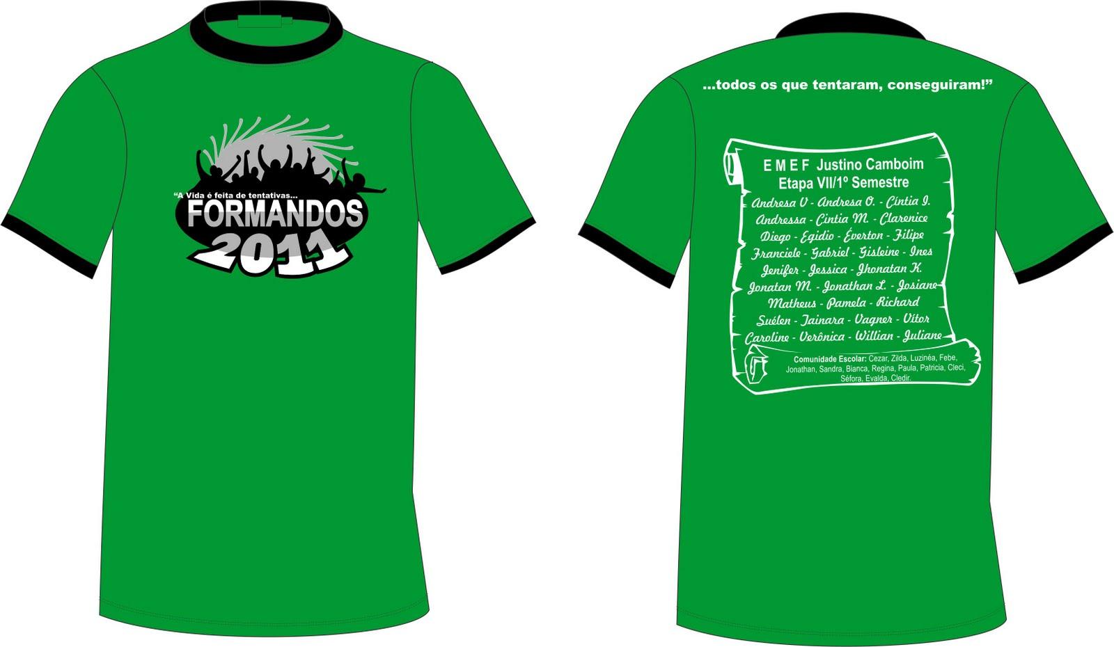 Camiseta Dos Formandos   EJA