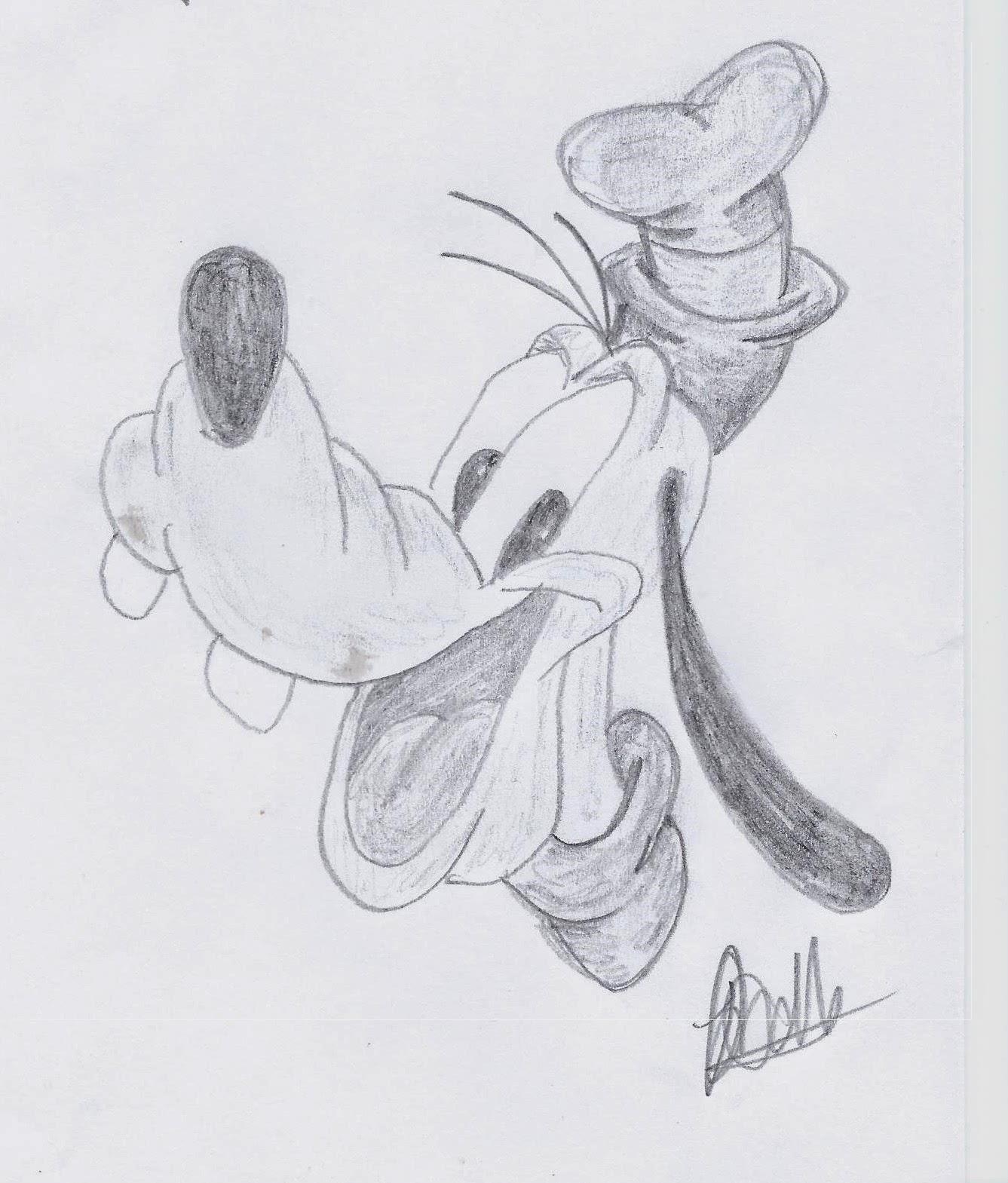 Disney Illustration Study: Classic Disney www.JoLinsdell.com, Goofy