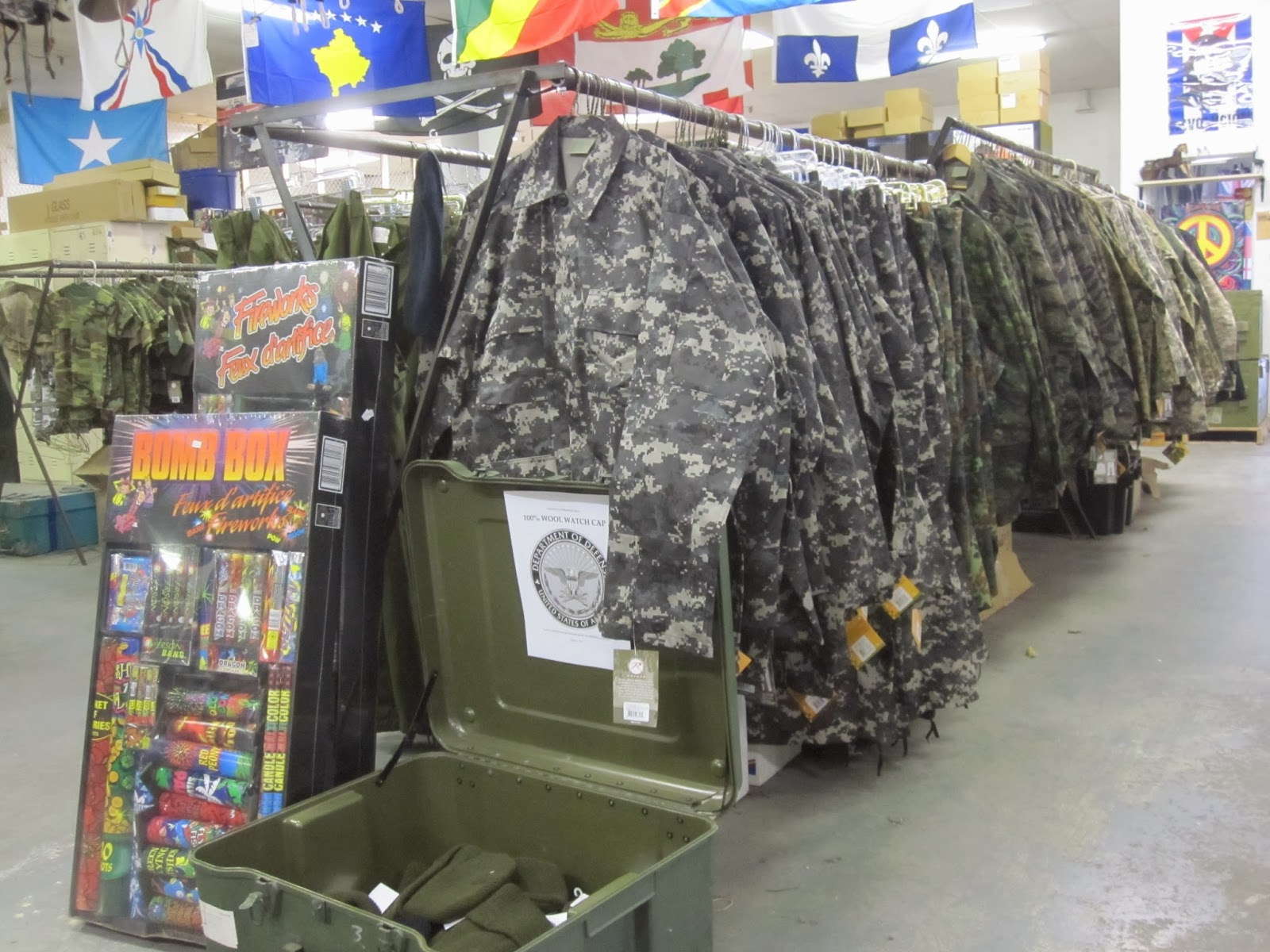 Army military clothing store
