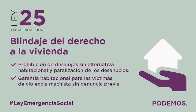 Podemos registra en el Congreso su 'Ley 25' de emergencia social
