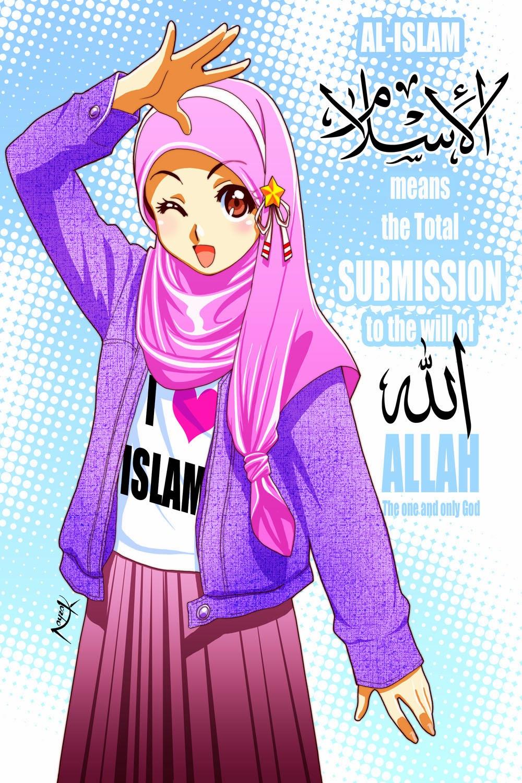 Kumpulan Gambar Kartun Muslimah Terbaru
