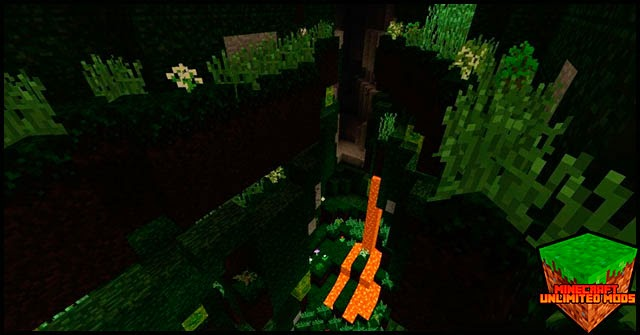 Elemental Caves Mod bosque