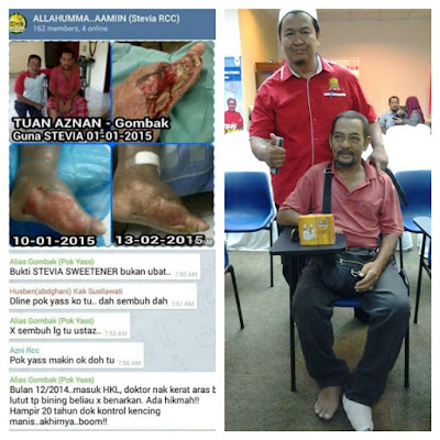 testimoni rawatan luka kencing manis