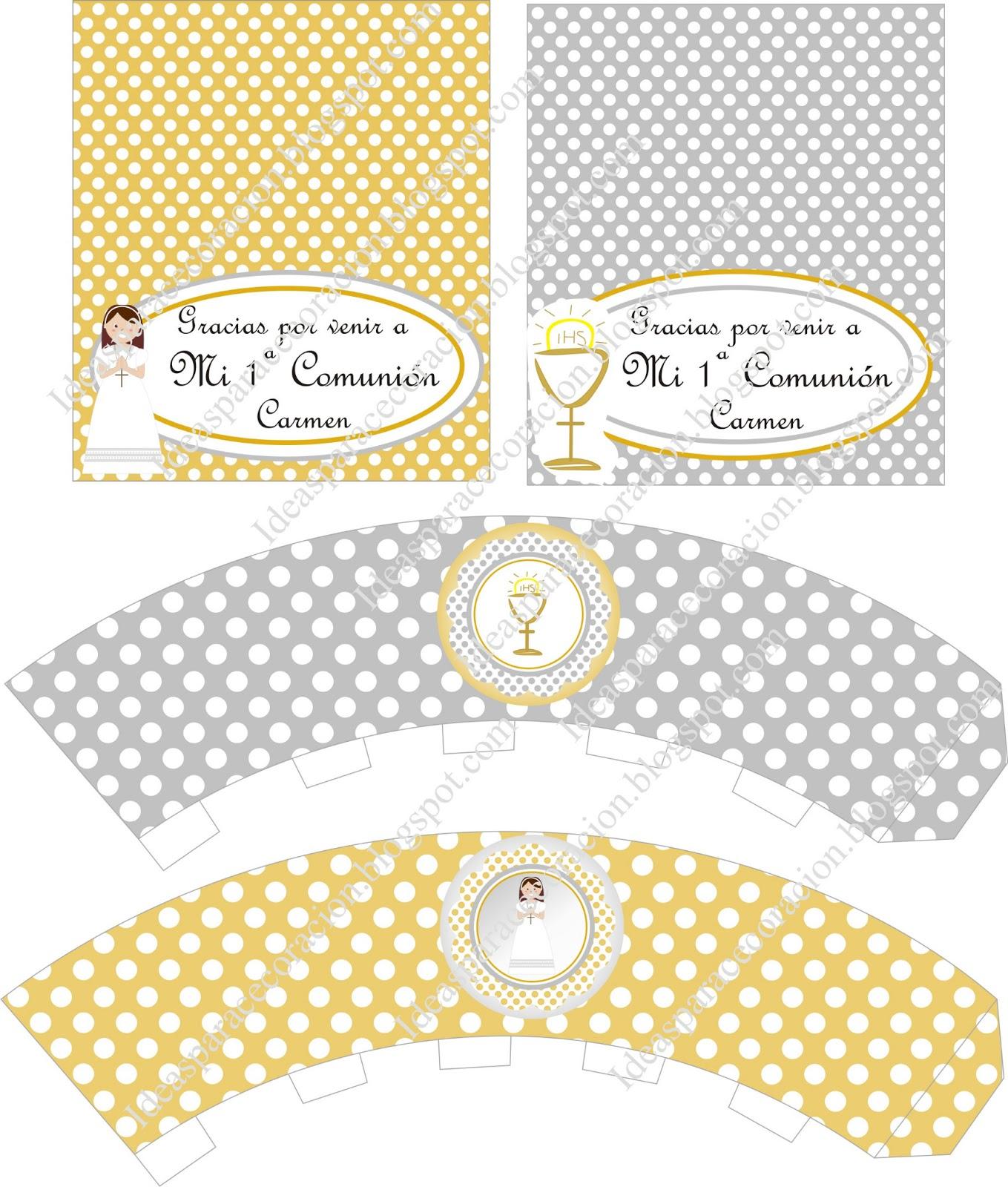 Ideas para la decoración de Fiestas Infantiles: Kit de comunión ...