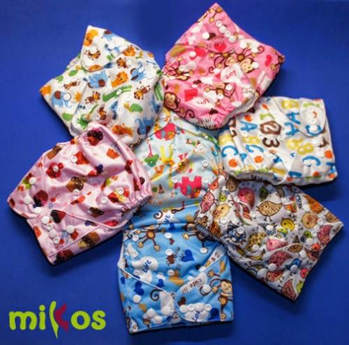 pañales de tela, pañales, insertos, Mikos, mikosland, compras, comprar pañales de tela