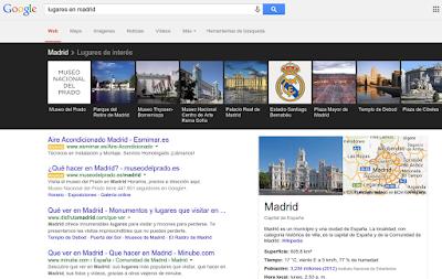 opciones de busqueda en Google