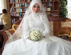 Model Gaun Pengantin Muslim Modern