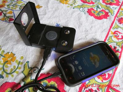 Waka Waka charging an HTC One