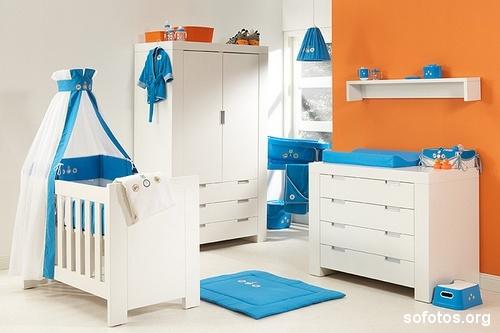 decoracao quarto azul turquesa e amarelo:Em Casa: Quarto de bebê.