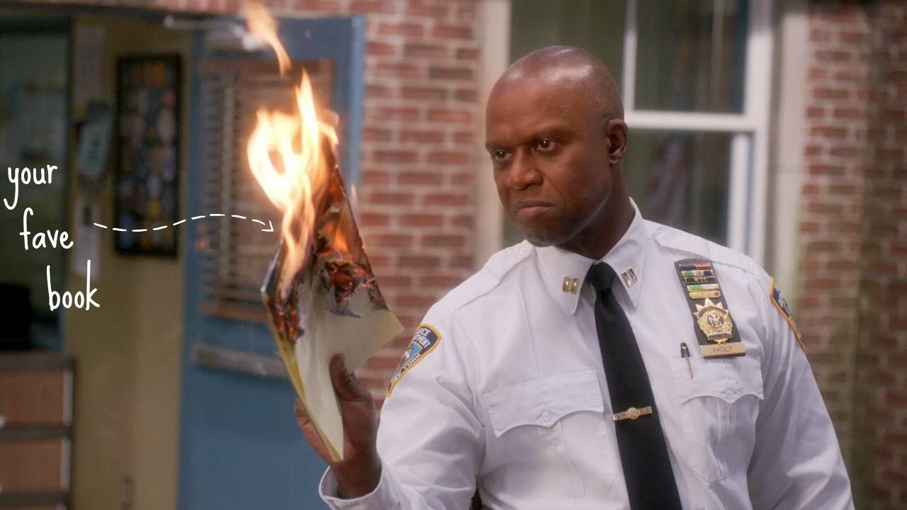 Captain Holt Burning