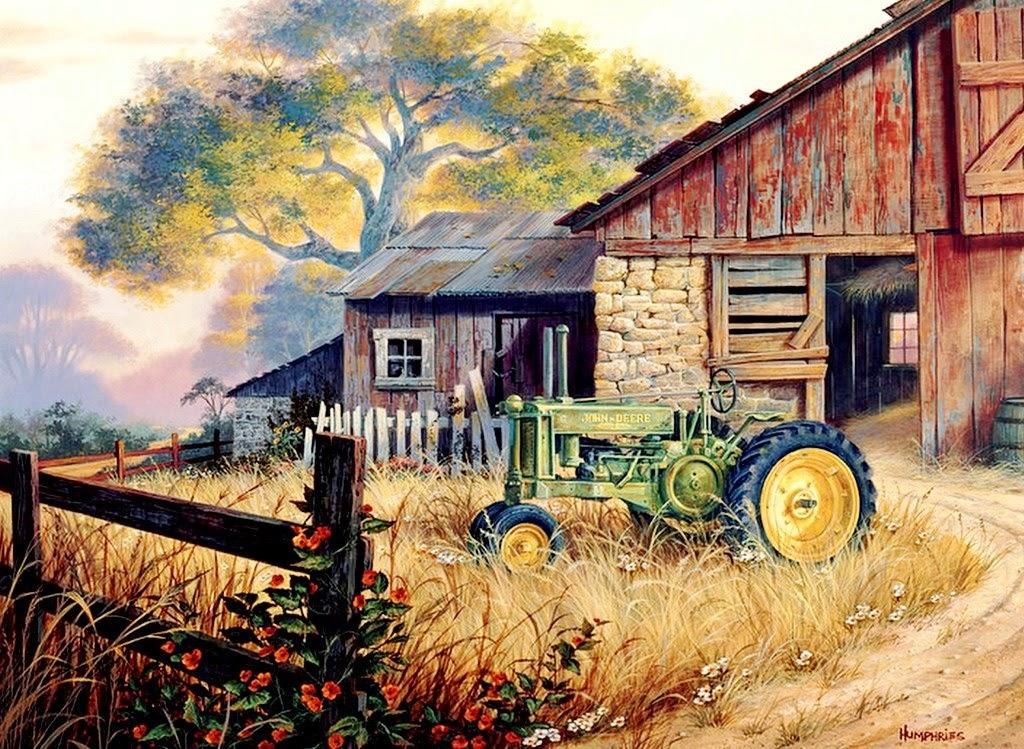 Pintura moderna y fotograf a art stica paisajes con - Casas de campo madera ...