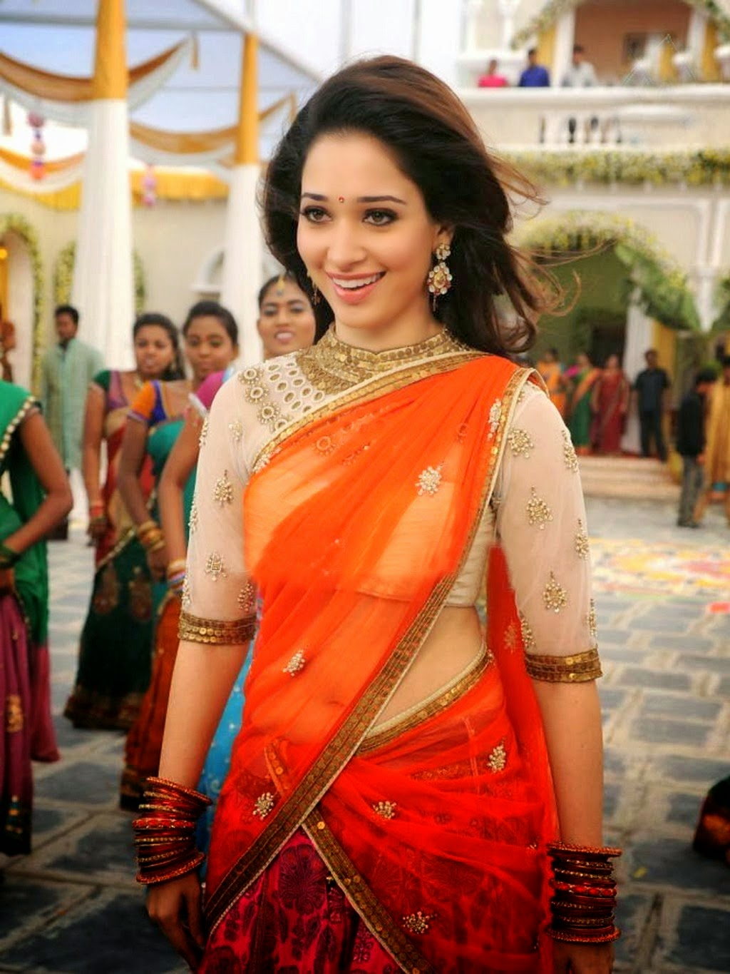 Tamanna bhatia hot pictures blue dress mobile wallpaper