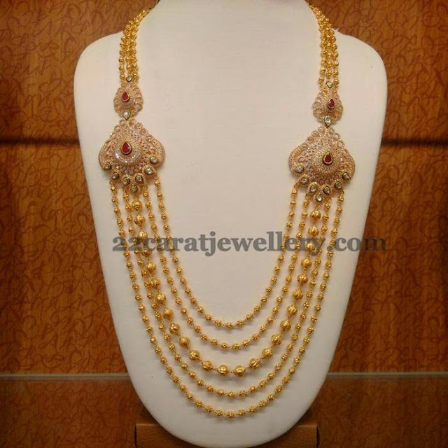 Gold Balls Steps Haram Jewellery Designs