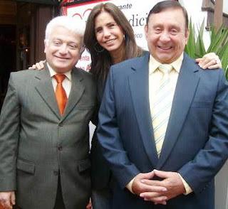Tulio Loza junto a Hugo Salazar y Julie Freundt