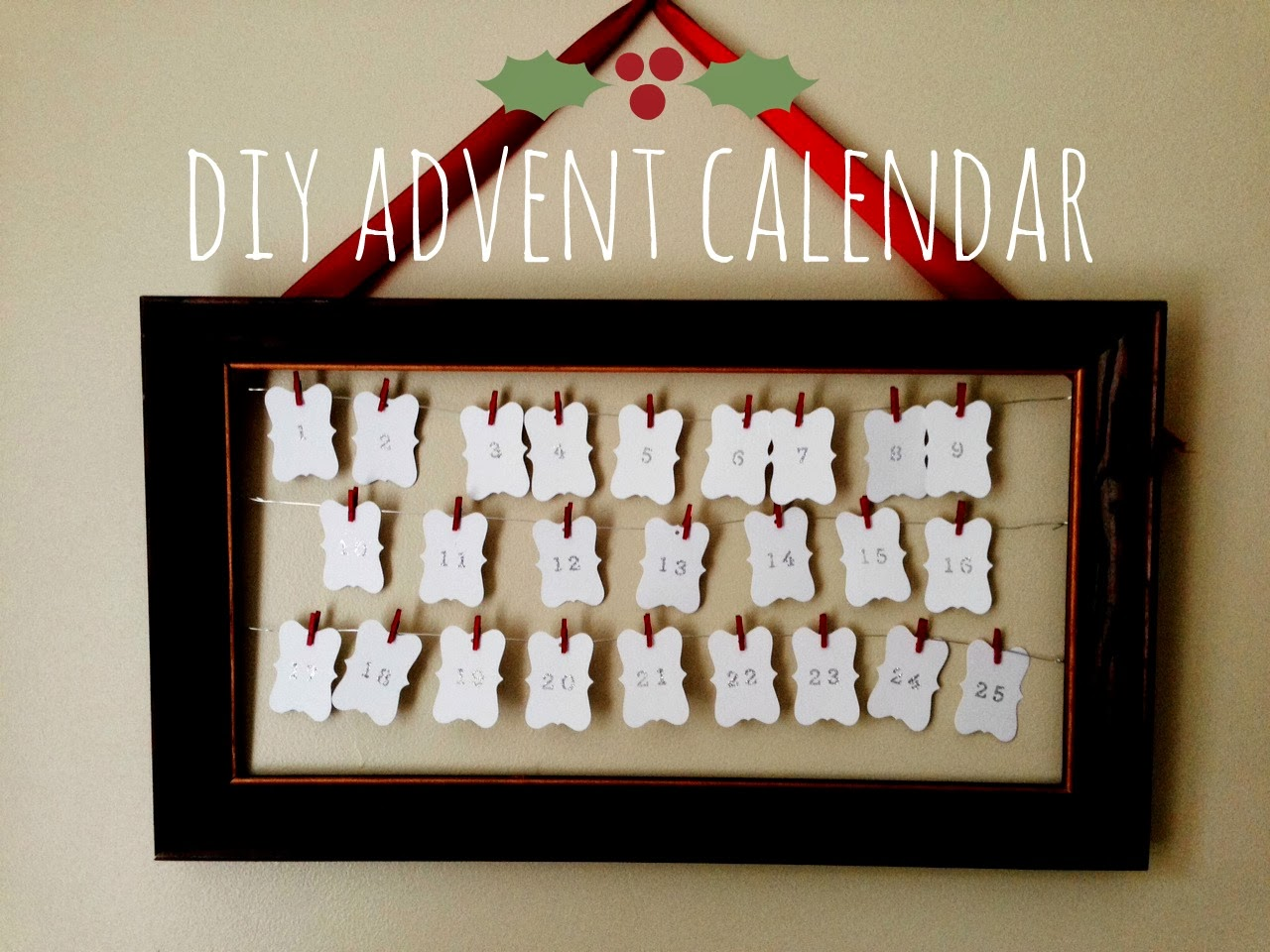 Diy Calendar Frame : Home made modern diy advent calendar