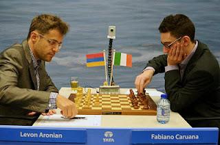 Échecs : Levon Aronian (2812) 1-0 Fabiano Caruana (2782) - Photo © ChessBase