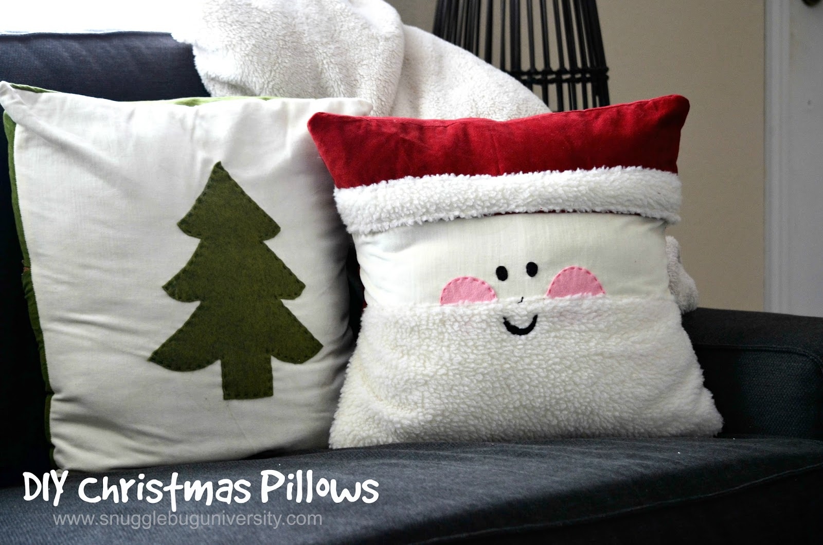 Snugglebug University: Easy Christmas Pillows