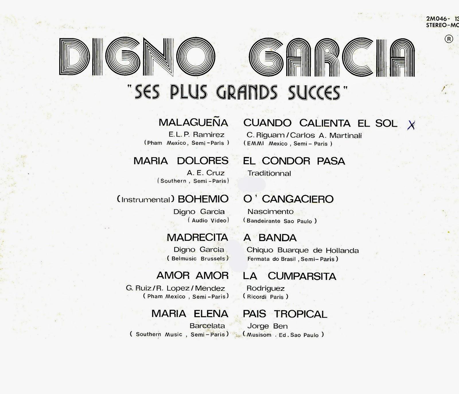 Digno Garcia - Ses Plus Grands Succes Vol. 1