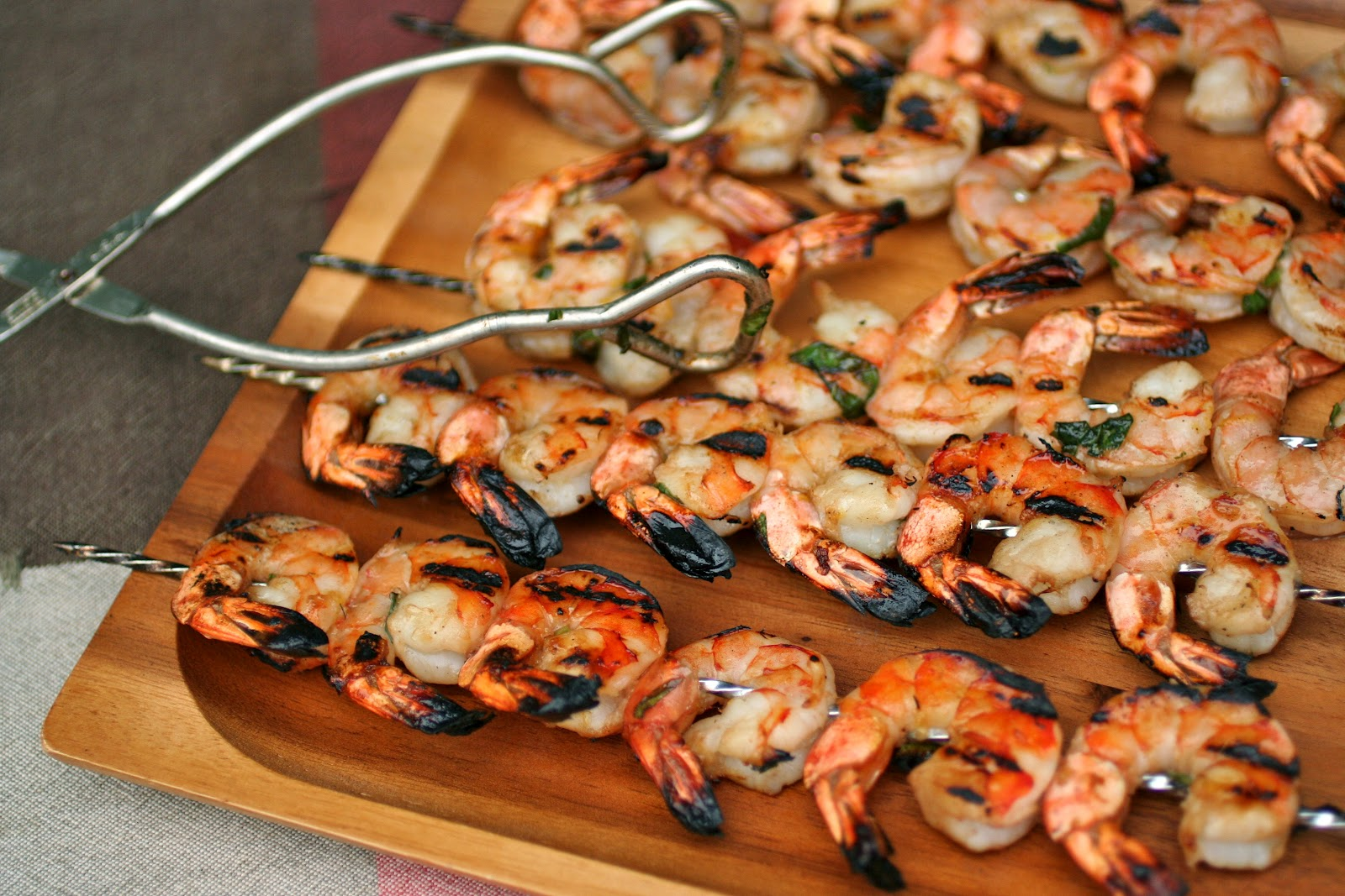 Meal Planning 101: Lemon Basil Grilled Shrimp