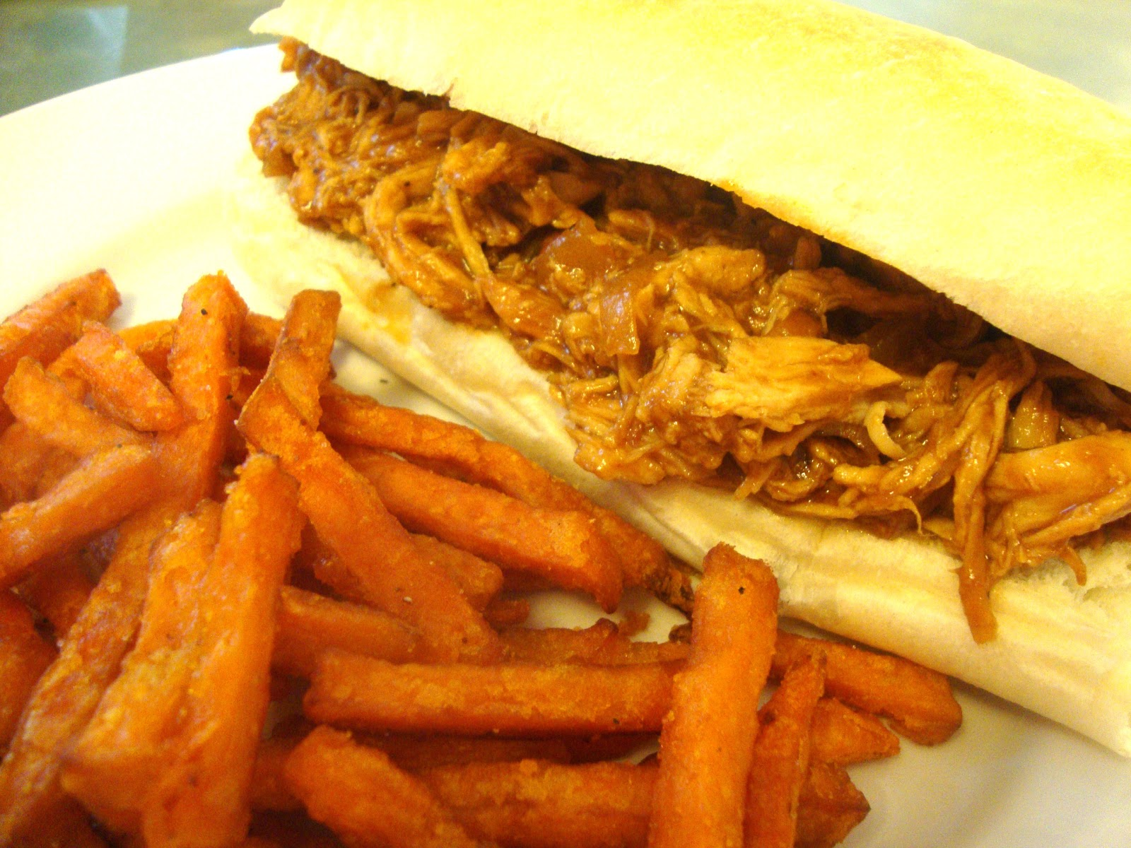 Sweet and Tangy Pulled Chicken Sandwiches