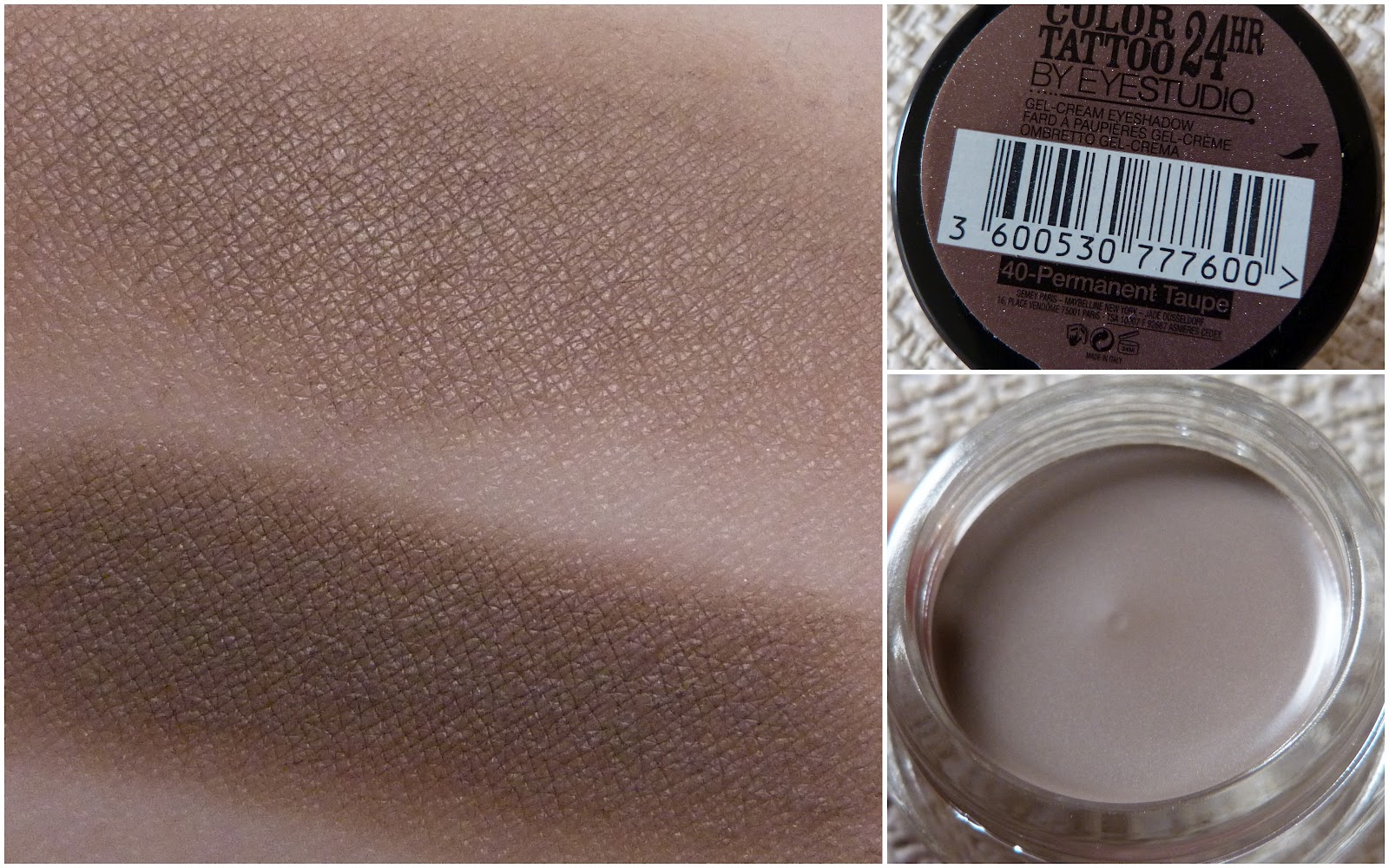 Maybelline color tattoo 24hr permanent taupe love love for Color tattoo maybelline