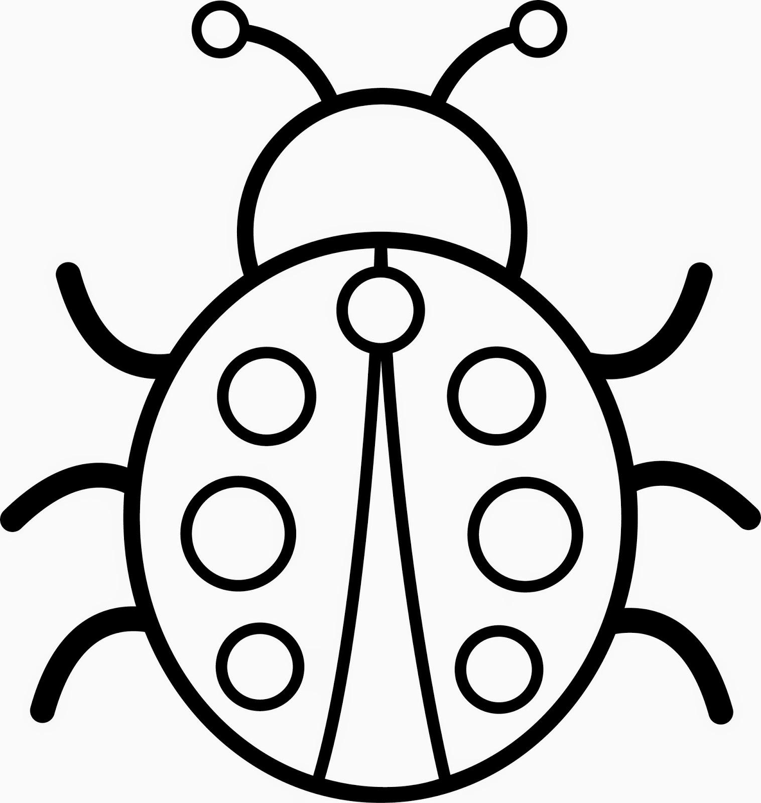 Dibujos para Colorear: Escarabajos para pintar