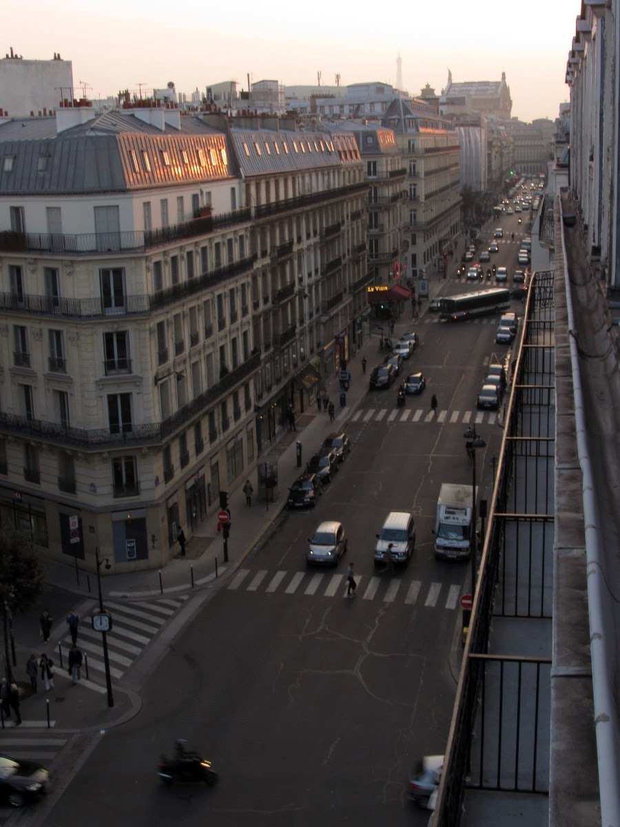 view from Best Western Opera Faubourg