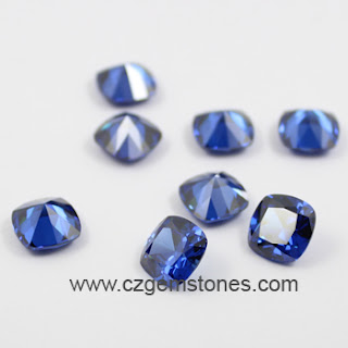 brilliant cushion cubic zirconia stones