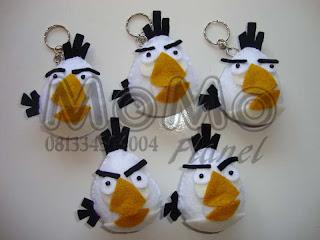White Bird (egg beater) 3 pcs gantungan kunci, 2 pcs tempelan kulkas