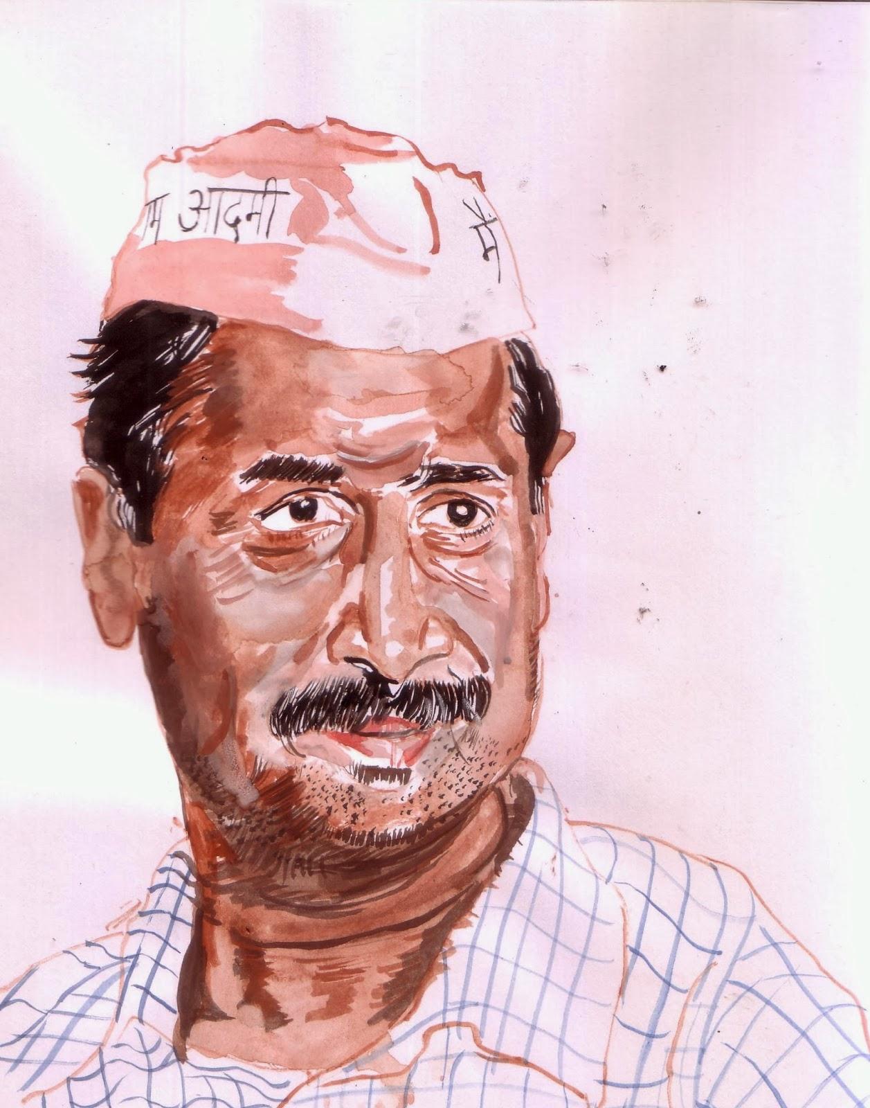 Arvind Kejriwal, Image courtesy artist