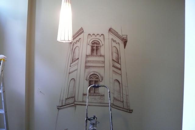 Malowanie obrazu na ścianie krok po kroku, zagospodarowanie ściany w przedpokoju
