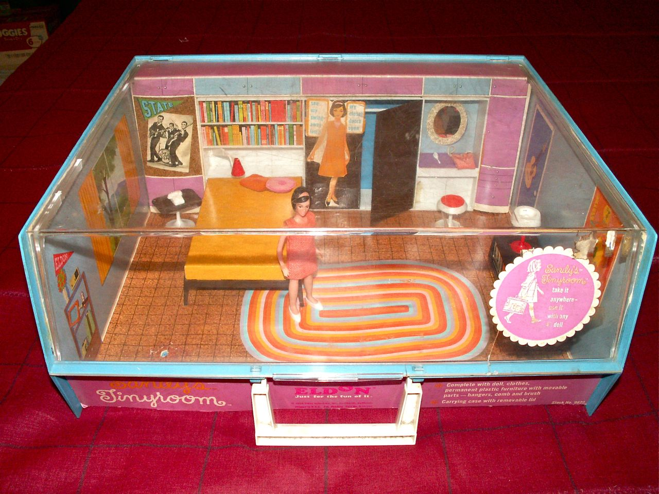 The Actual Tiny Room Above, That I Won. Has Several Pieces Missing, Not  Sure Just What They Are? But When I Found The Ad, I Could See A Lovely  Tulip Style ...