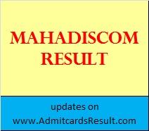 Mahadiscom JE, AE, AVO, JA Result 2015