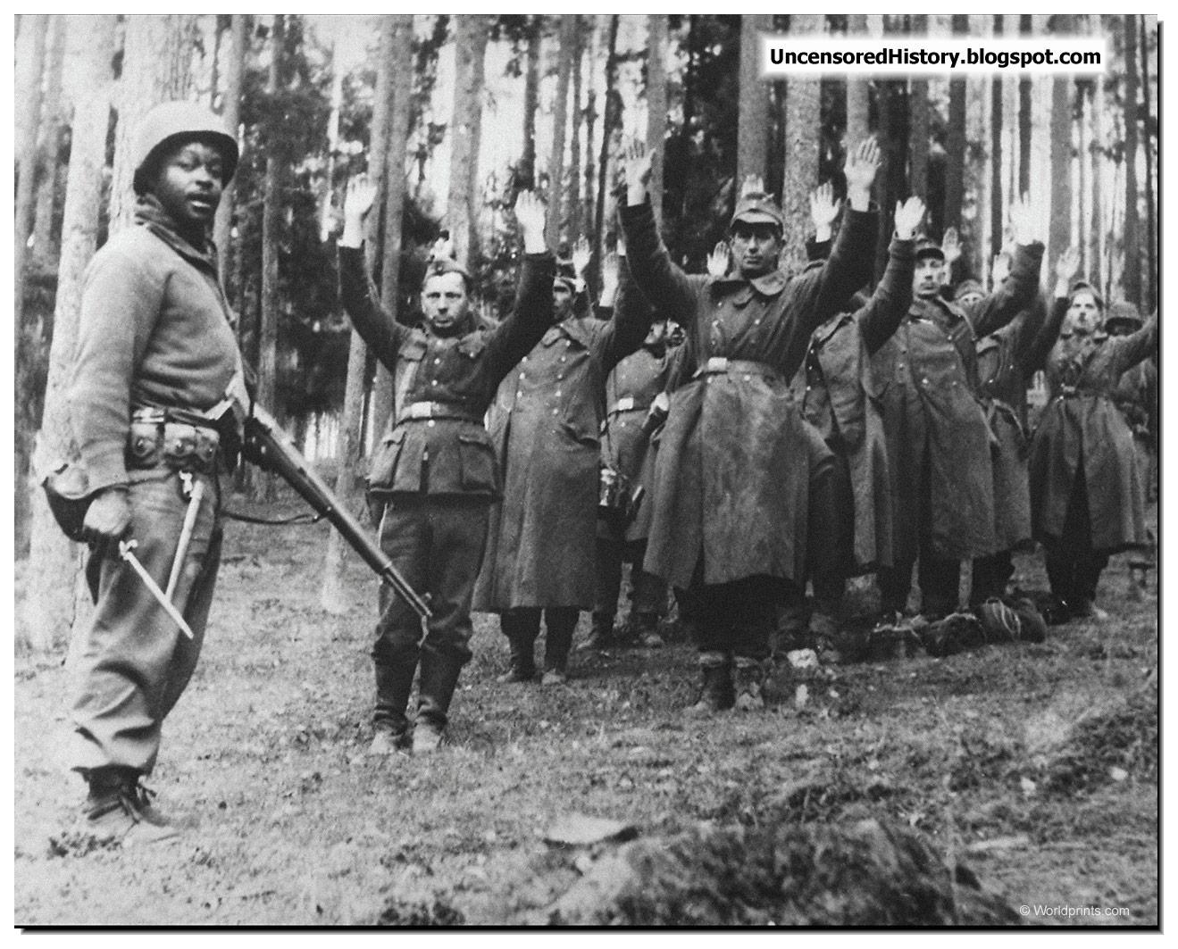 German prisoners waffen ss shot american soldiers